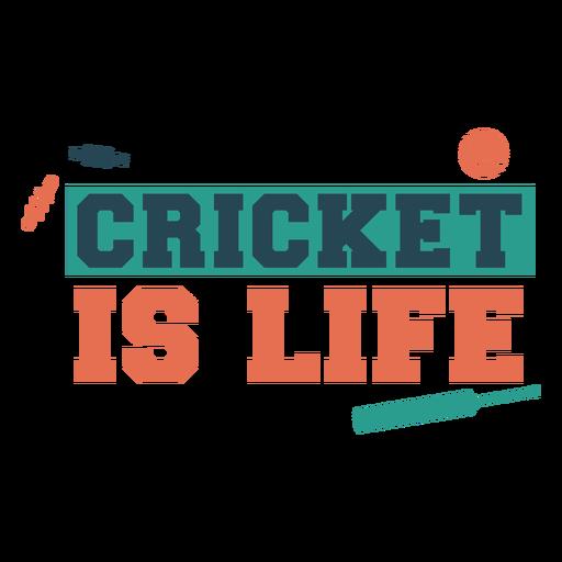 Cricket life sport badge