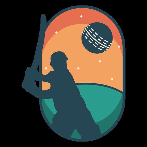 Cricket sport player badge
