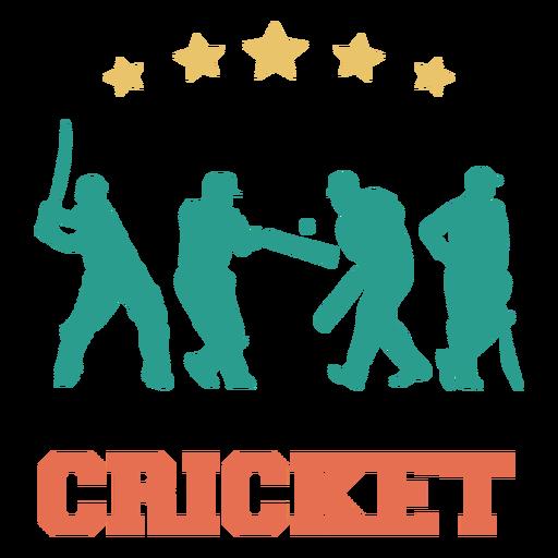 Cricket sport players badge