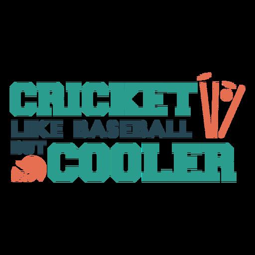 Cricket cool sport badge
