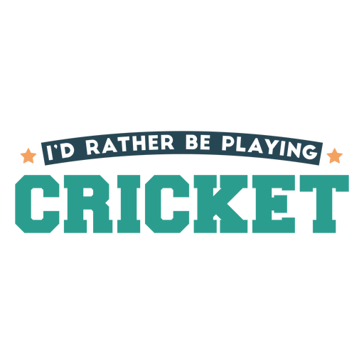 Cricket sport play quote badge