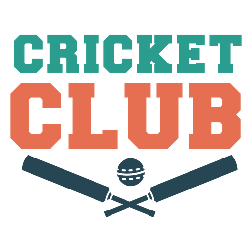 Cricket sport club badge