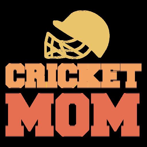 Cricket sport mom badge
