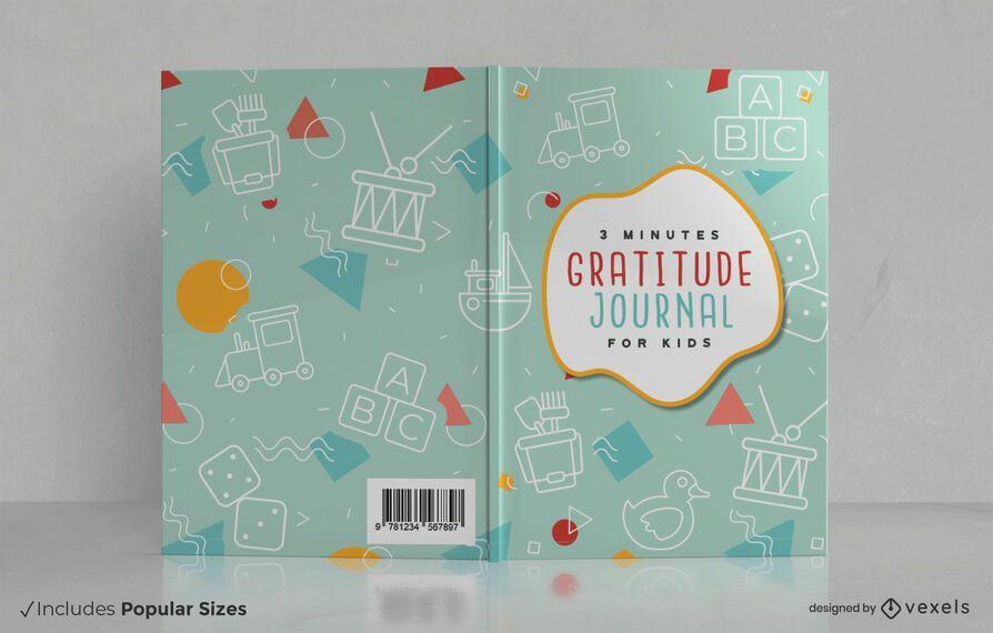 Gratitude journal kids book cover design