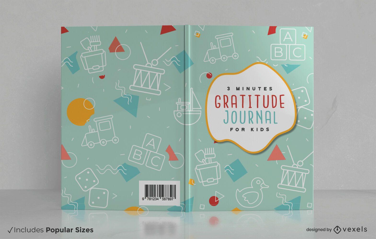 Design da capa do livro infantil do jornal Gratitude