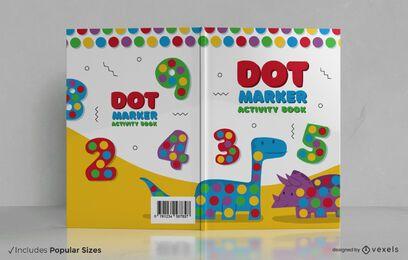 Design da capa do livro de atividades com marcador de pontos