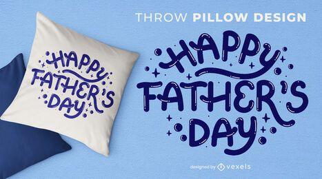 Design de almofada para o dia dos pais