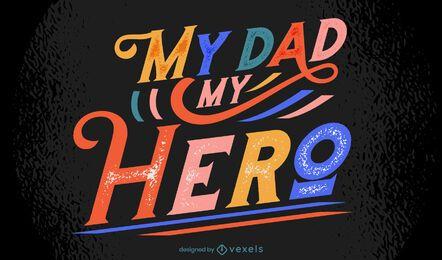 Letras coloridas do dia dos pais