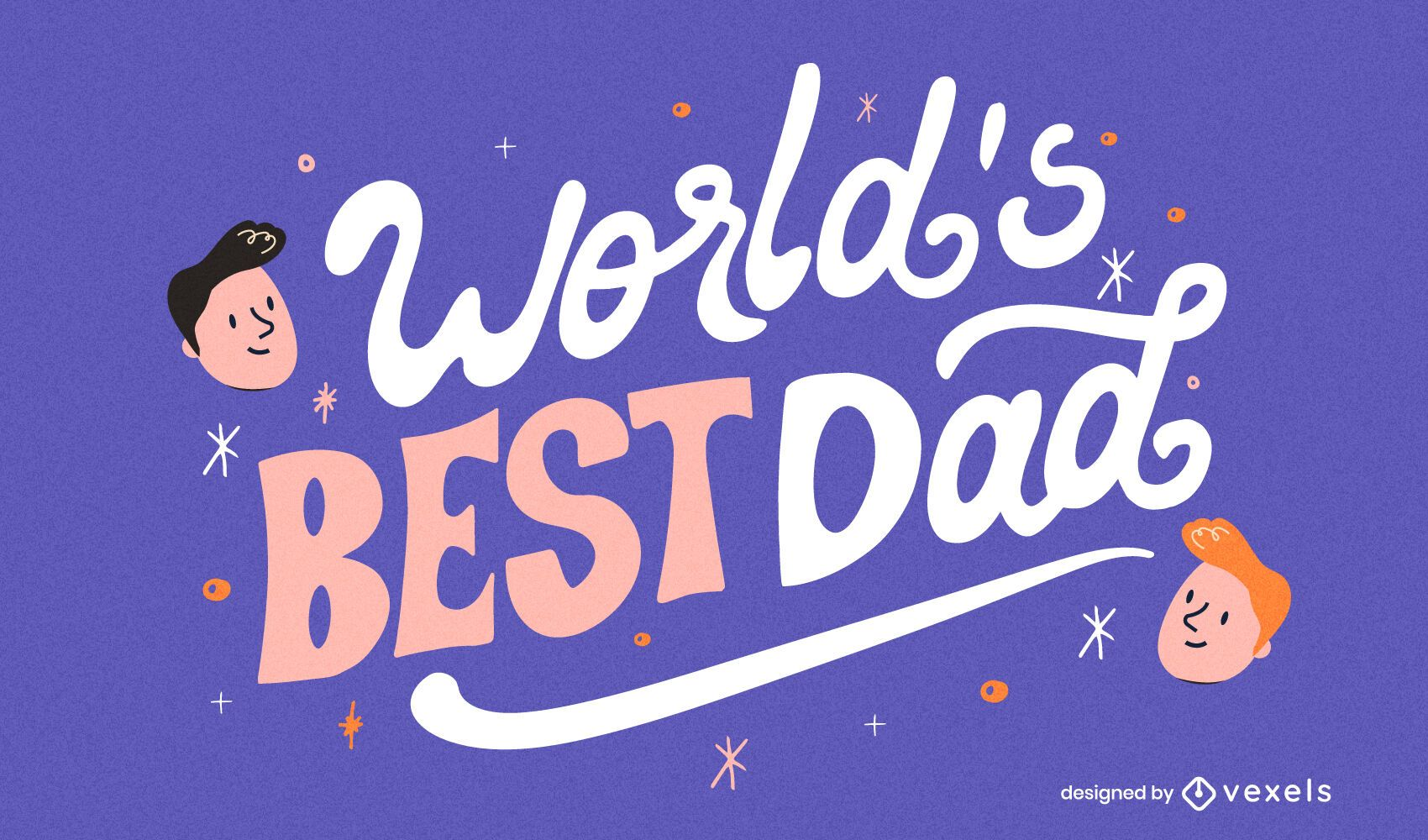 World's best dad Father's Day lettering