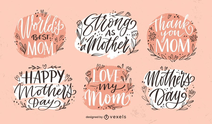 Conjunto de insignias del día de la madre