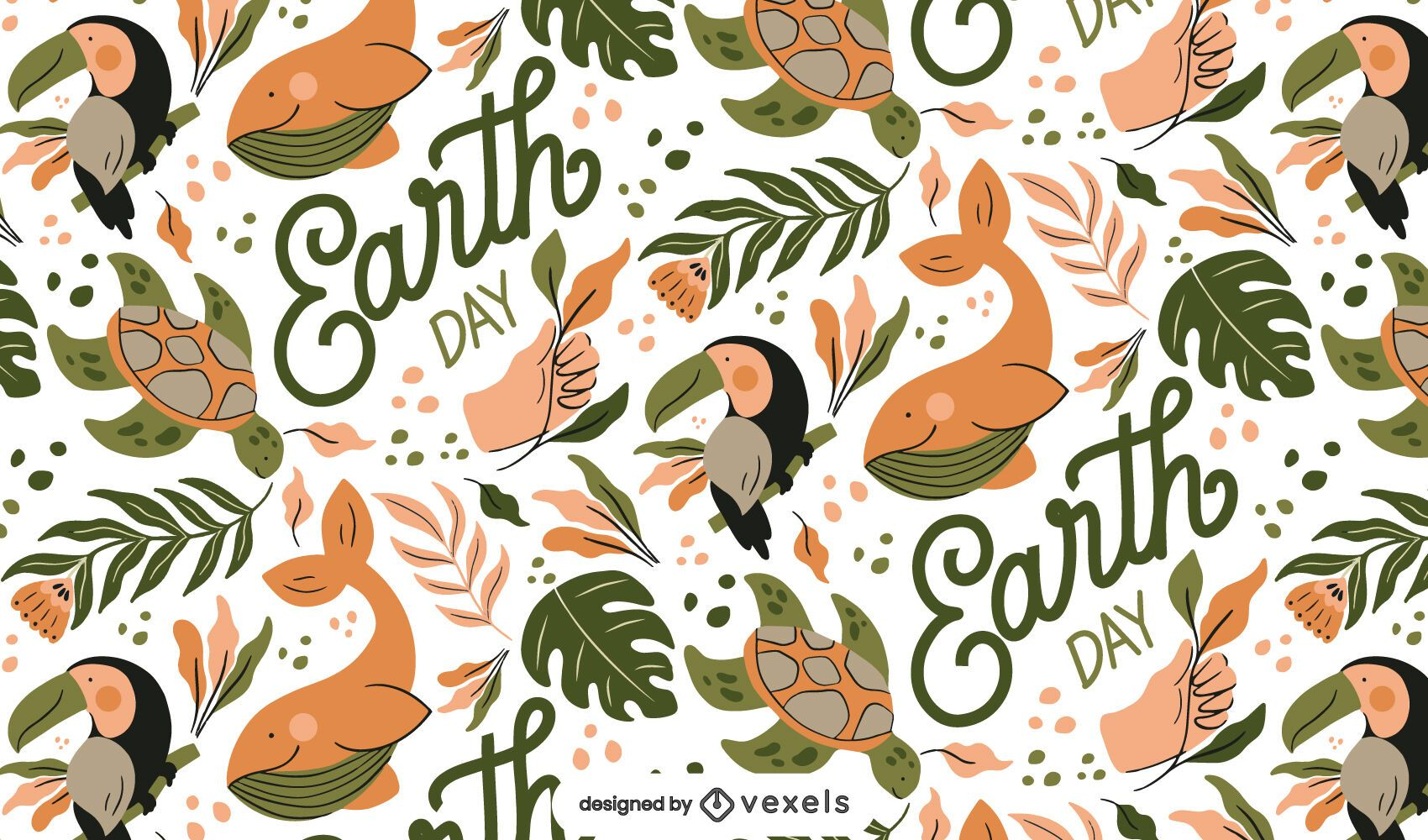 Earth day seamless pattern