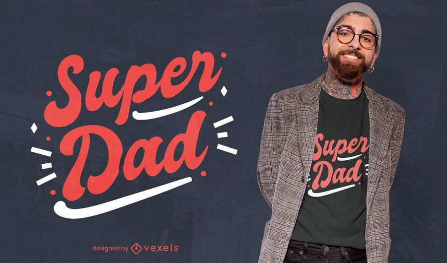 Super Papa Vatertag T-Shirt Design