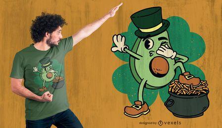 Design de camisetas do Avocado St Patrick