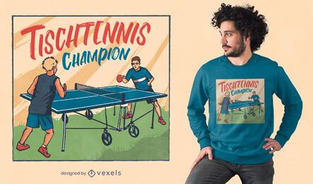 Table tennis German quote t-shirt design