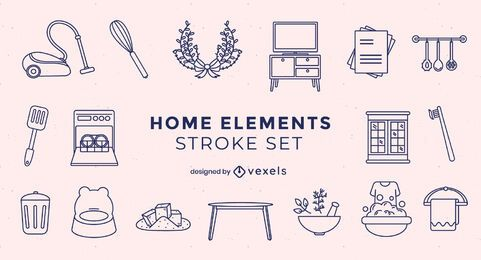 Household elements stroke pack
