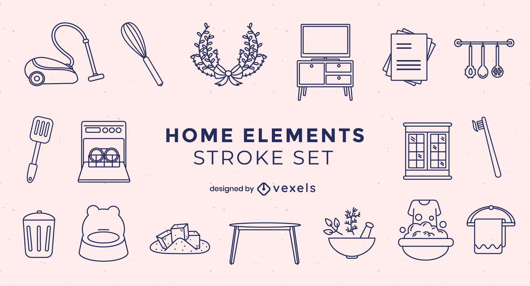 Household elements stroke pack