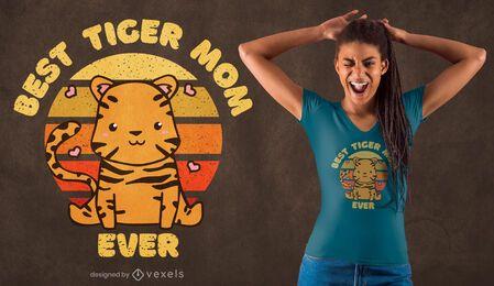 Melhor design de t-shirt para mãe tigre