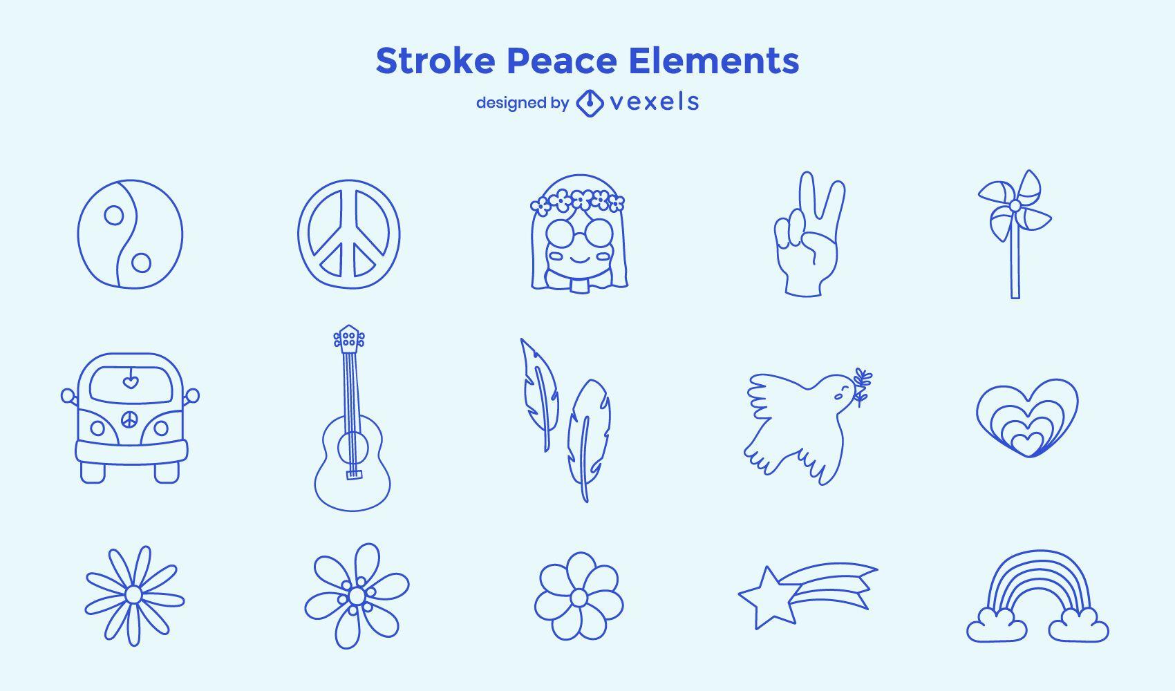 Stroke peace element set