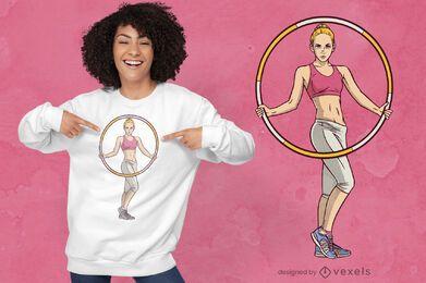 Hula Hoop Frau T-Shirt Design