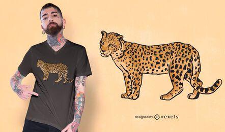 Leopard annoyed expression t-shirt design