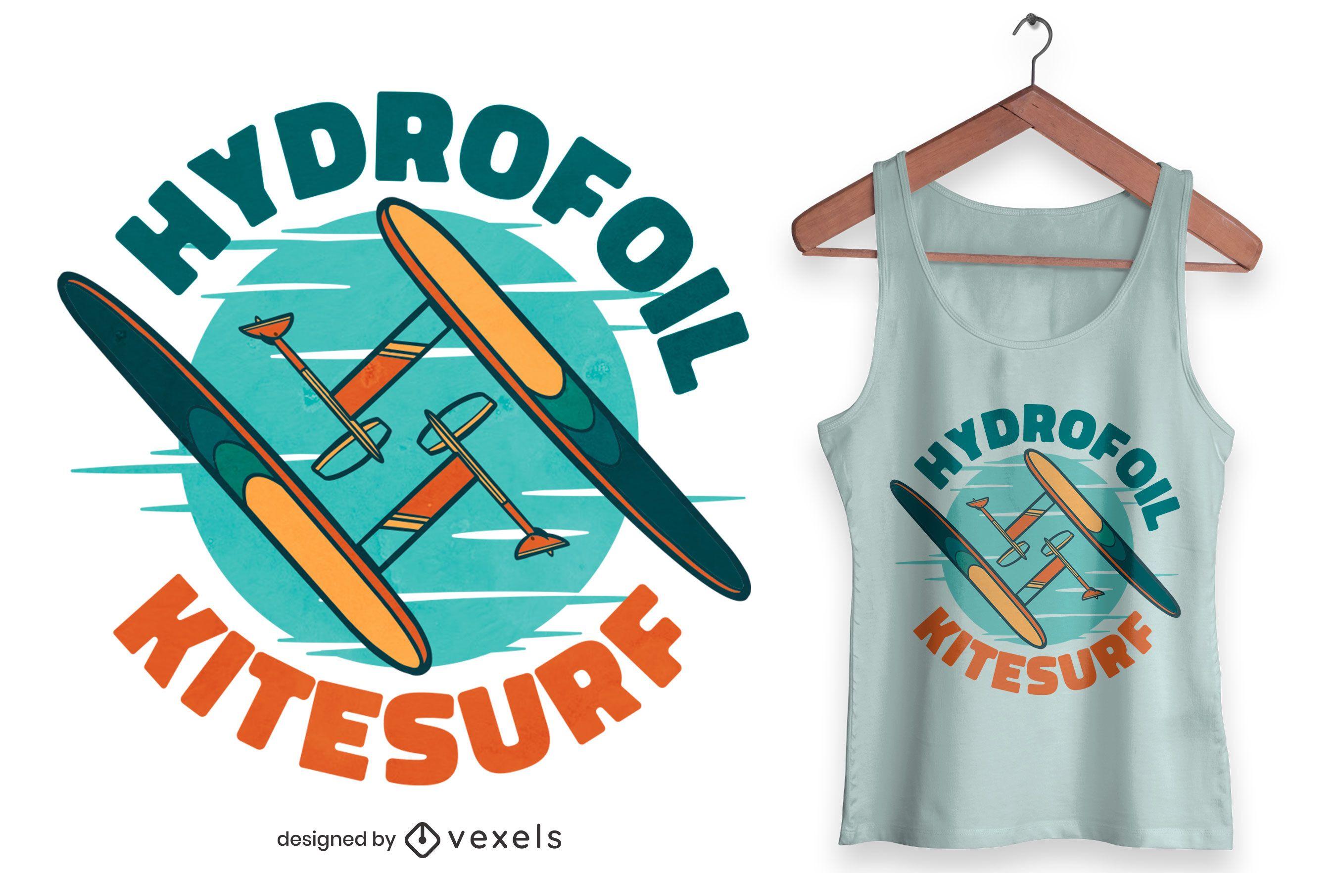 Hydrofoil kitesurf sports t-shirt design