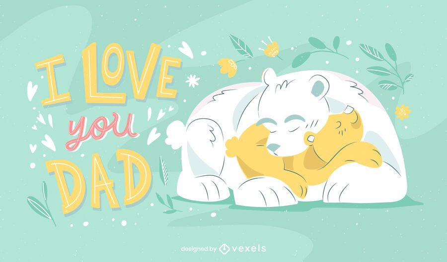 Ilustración de osos del día del padre