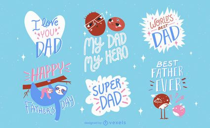 Father's Day cute badges