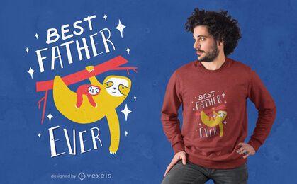 Design de t-shirt das preguiças para o dia dos pais