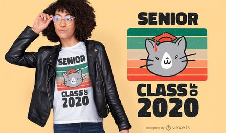 Diseño de camiseta de cita de clase senior.