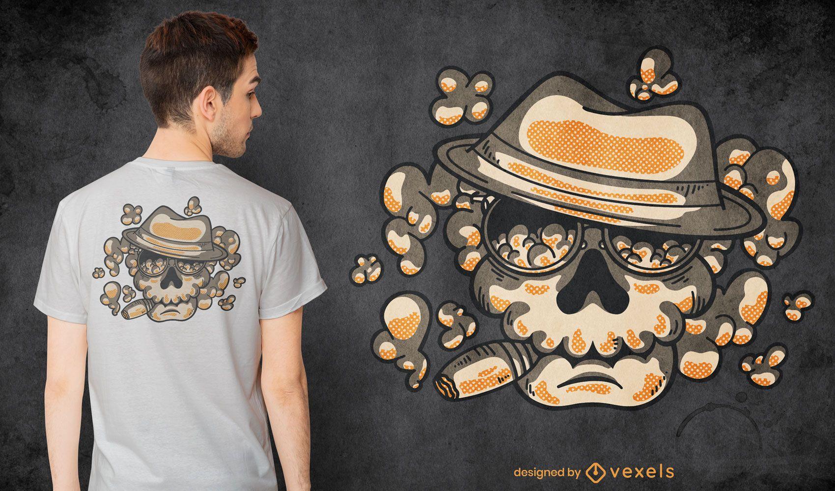 Mafia skull t-shirt design