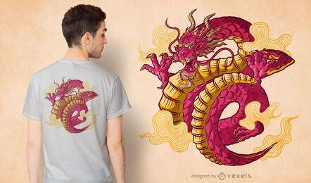 Design de camiseta de dragão chinês