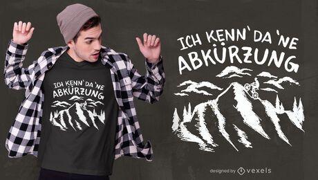Diseño de camiseta de cita de motociclista cuesta arriba