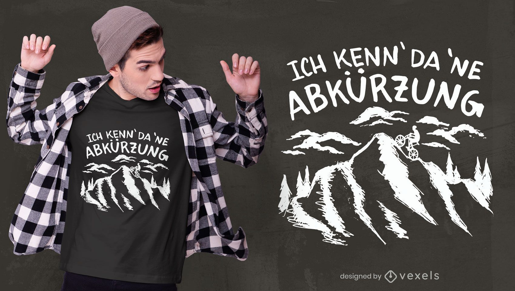 Bergauf Biker Zitat T-Shirt Design