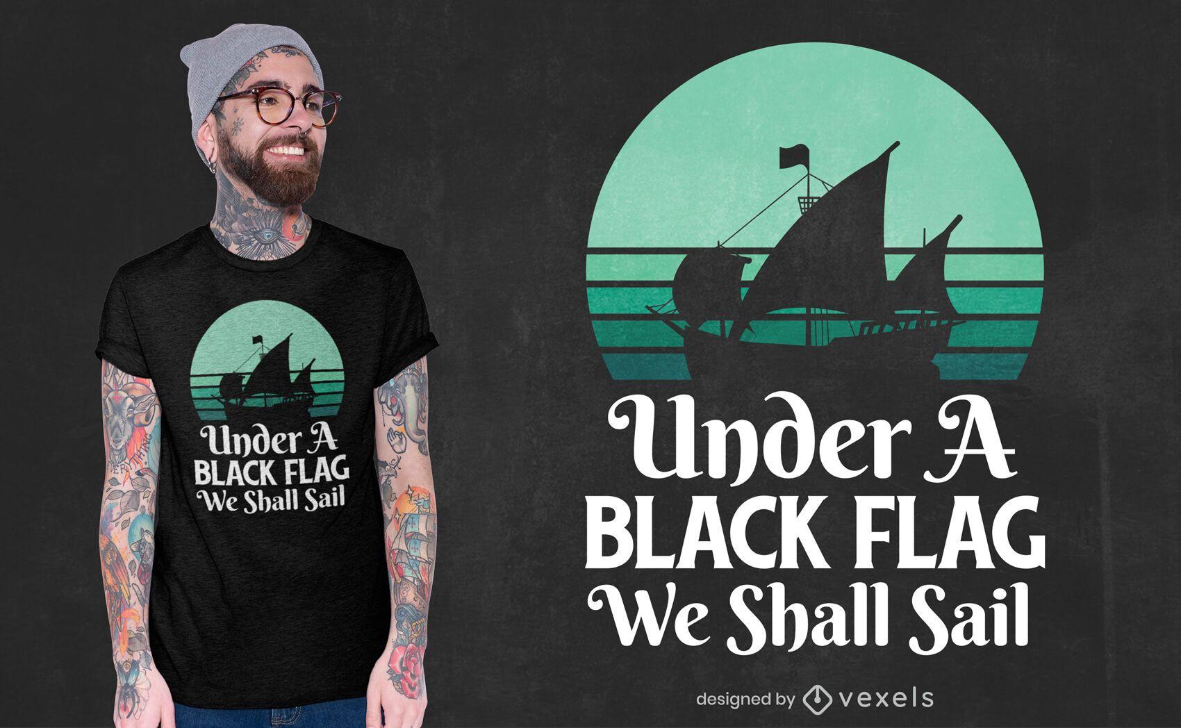 Pirate quote t-shirt design