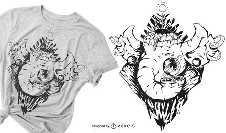 Mythical elephant t-shirt design