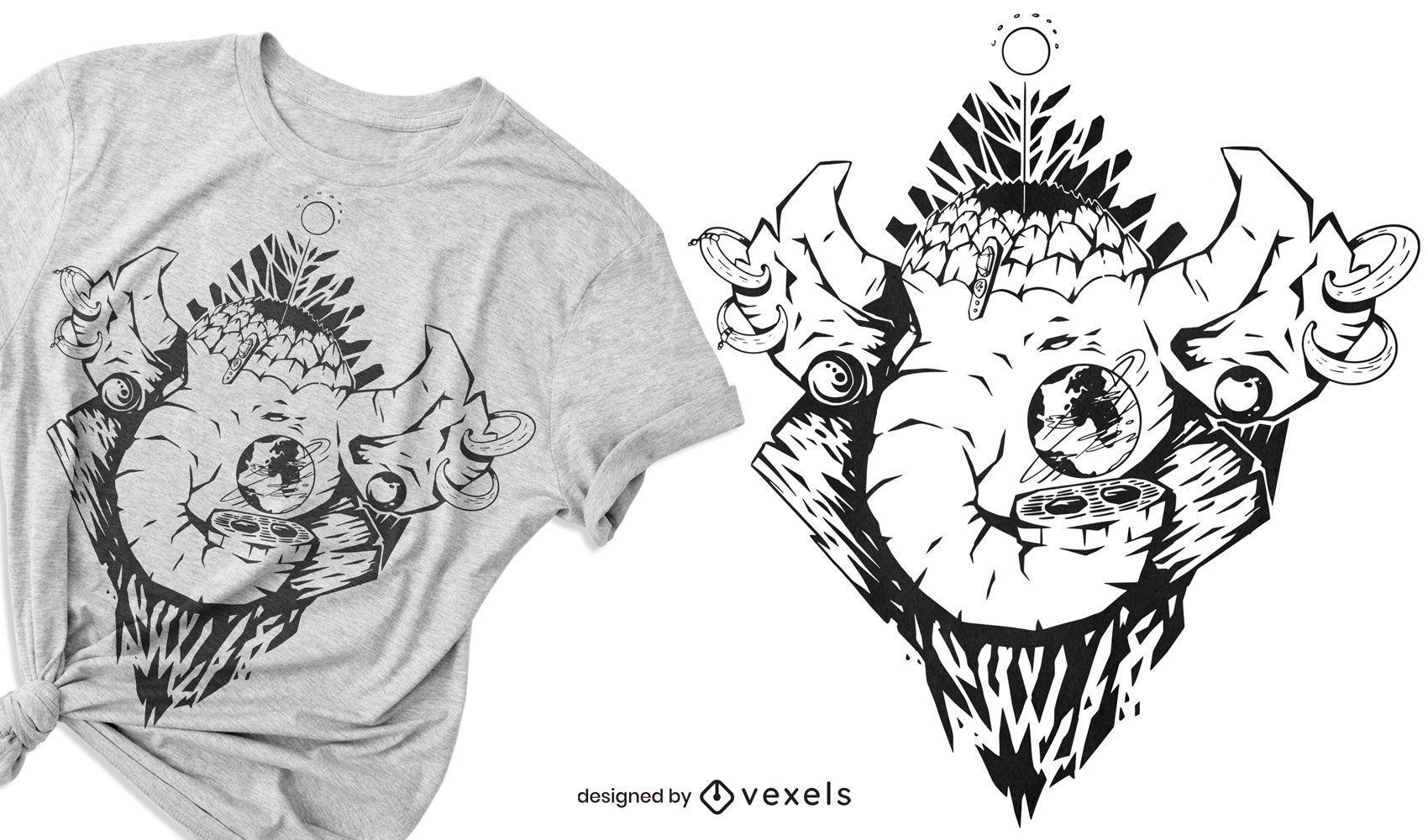 Mythical elephant t-shirt design