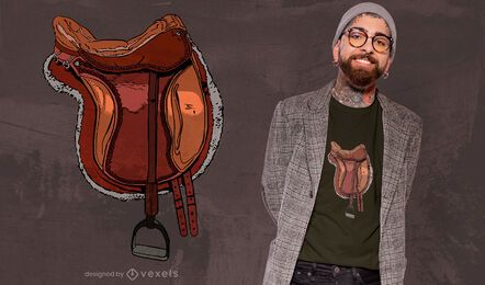 Design de t-shirt de sela equestre