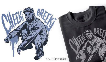 Cheeki breeki t-shirt design