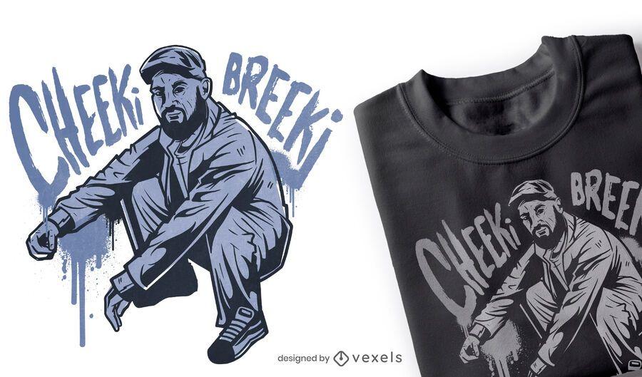 Diseño de camiseta Cheeki Breeki
