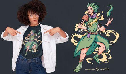 Superhero aloe t-shirt design