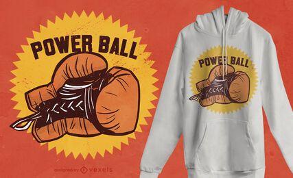 Design de camiseta com cotação de luva de boxe