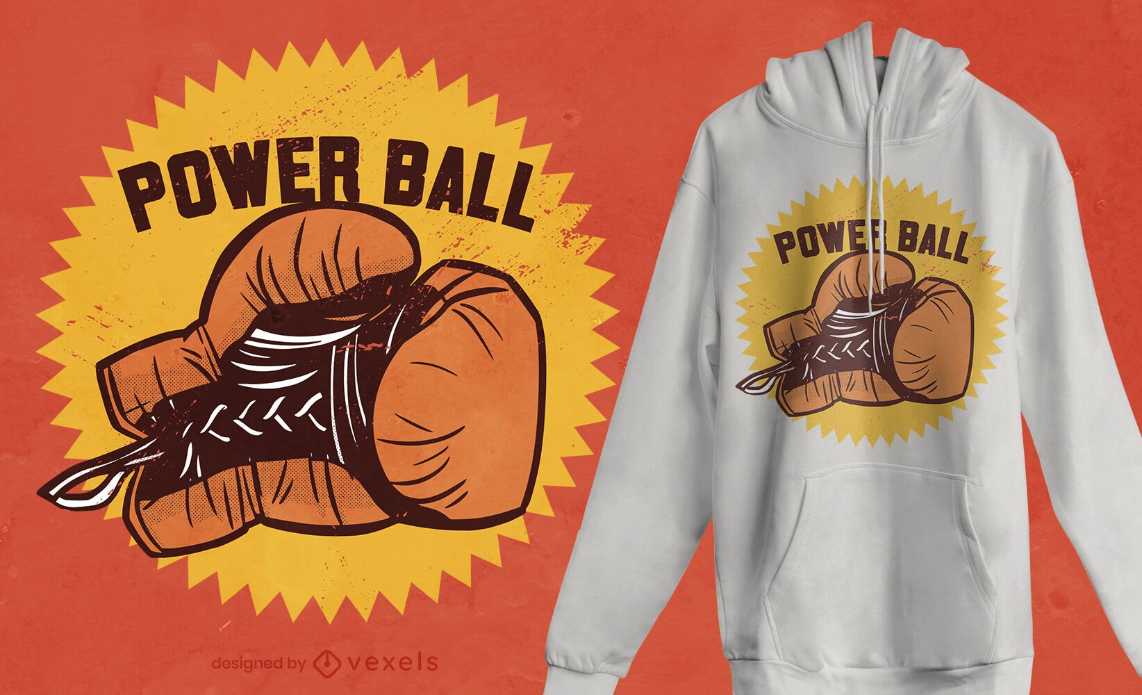Boxhandschuh Zitat T-Shirt Design
