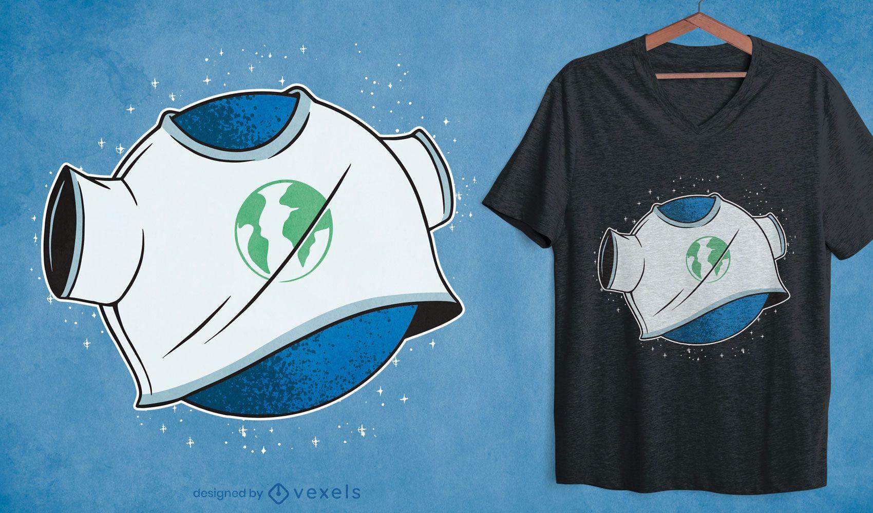 Diseño de camiseta de camiseta Globe Earth