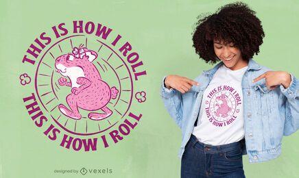 Pink hamster wheel t-shirt design