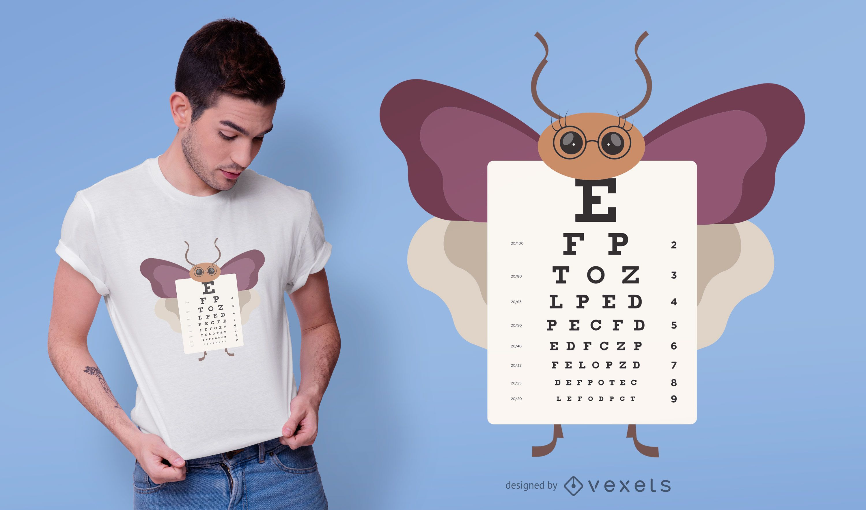 Diseño de camiseta de gráfico ocular de mariposa.