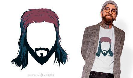 Mullet haircut t-shirt design