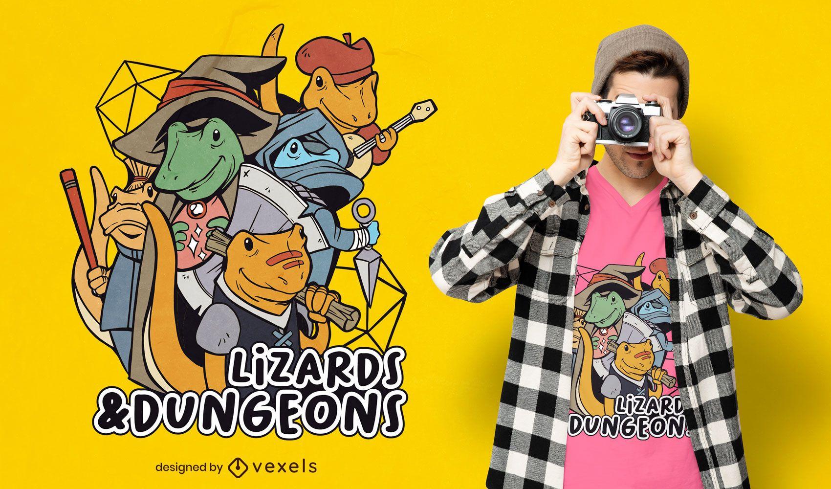 Lizards and dungeons t-shirt design