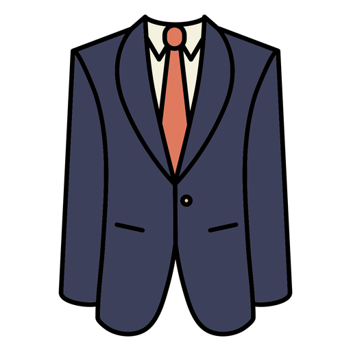 Simple color stroke geometric suit