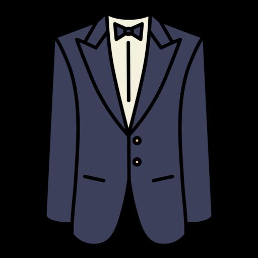 Simple color stroke geometric tuxedo