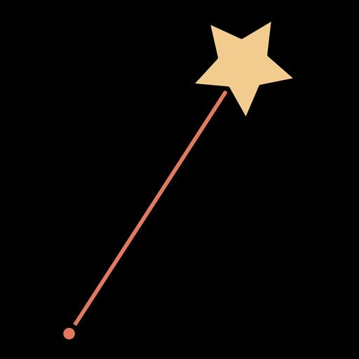 Color stroke fairy magic wand
